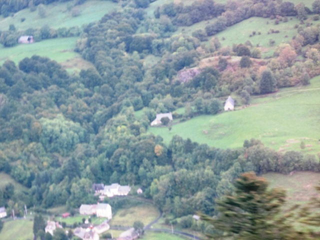 Looking down on the villages below