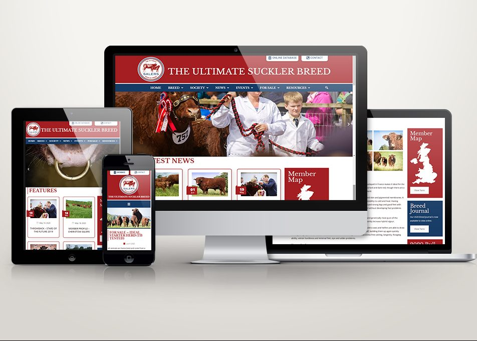 SALERS CATTLE SOCIETY LAUNCH NEW WEBSITE