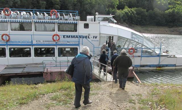 Loading up for the boat trip on the Garabit Reservoir